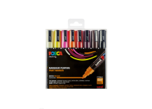 Set de 8 marqueurs Posca pointe conique trait moyen