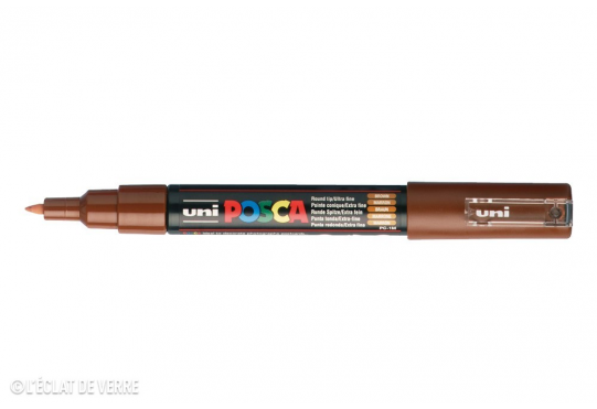 Marqueur Posca pointe conique trait extra-fin Marron