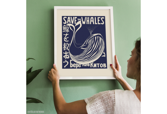 Affiche SAVE THE WHALES