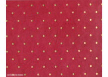 papier polka or/rouge