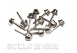 12 clous 2 tiges 9 mm en nickel